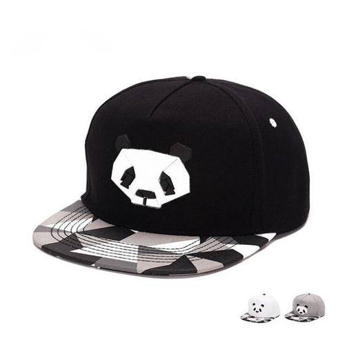 Adjustable Panda Snapback Cap