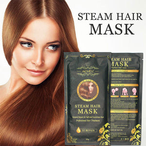 Aliver Automatic Heating Steam Hair Mask Keratin Argan Oil Treatment Hair