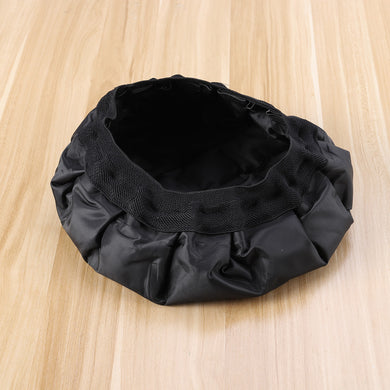 Thermal Hair Heat Cap Heated Gel Steamer Cap Microwavable Micro Hair Cap Durable Hair Thermal Treatment Cap for Hair Styling (Black)