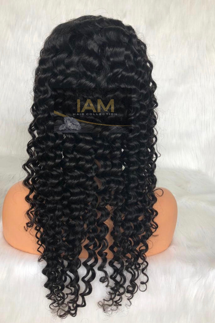 Brazilian Italy Curly Pre-Plucked Full Lace Wig Unit