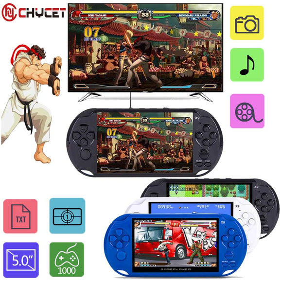 2018 New Arrival 5.0 Large Screen Handheld Game Player Support TV Out Put With MP3/Movie Camera Multimedia Video Game Console