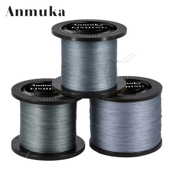 Anmuka 1000M Multifilament PE Braided Fishing Line 0.4-8.0# 12-72LB Super Strong Braided Line Fishing Lines Tackle pesca 1