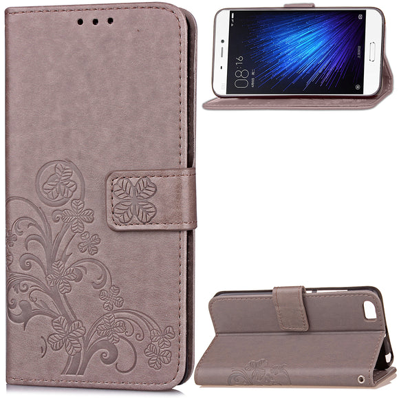 Case For Xiaomi Mi A1 6 5X 5 MAX 2 Leather Four Leaf Clover With Flip Wallet Case For Redmi Note 5A 5 Plus 4X 4A 4 Pro Y1 Cover