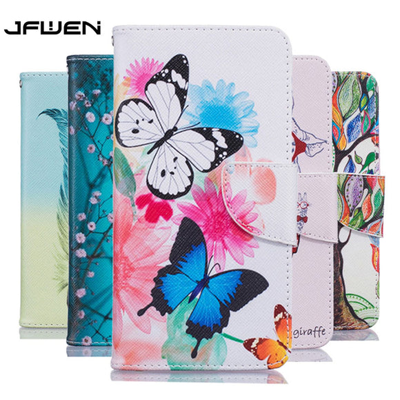 JFWEN For Coque Xiaomi Redmi 4X Case Wallet Flip Leather Phone Cases For Xiaomi Redmi 4X Pro Case Cover Luxury Magnetic Funda