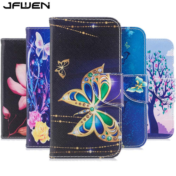JFWEN For Xiaomi Redmi Note 5A Case Cover Leather Flip Wallet For Xiaomi Redmi Note 5A Pro Prime Case Magnetic Cute Phone Cases