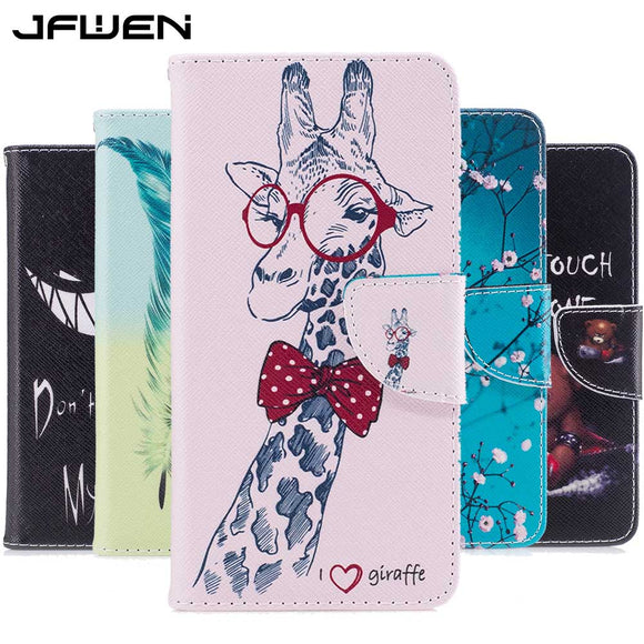 JFWEN Leather Cases For Xiaomi Redmi Note 4 Case Wallet Flip Leather For Xiaomi Redmi Note 4X Cover Luxury Magnetic Phone Case