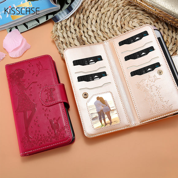 KISSCASE For Samsung Galaxy S8 S7 Edge Case Embossed Dress Girl Mirror Case For Samsung Galaxy S8 Plus S7 Phone Bag Case