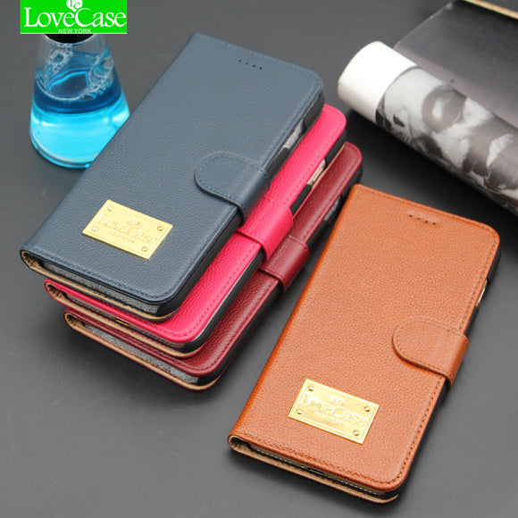 LoceCase Wallet Flip Cover Case for iPhone 8 8 Plus 100% Genuine Leather Fashion Phone Bag Cover for iphone 8Plus  holder cases