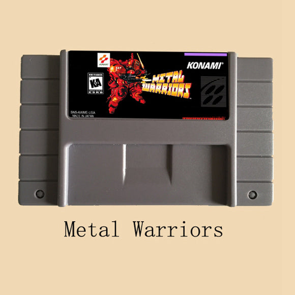 Metal Warriors USA Version 16 bit Video Game Card