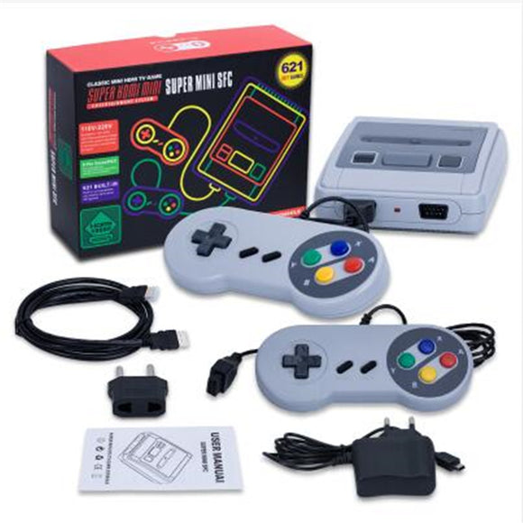 New Retro TV Mini Handheld Game Console HDMI Out Video Game Console For Nes Games With 2 Controllers Built-in 621 Classic Games