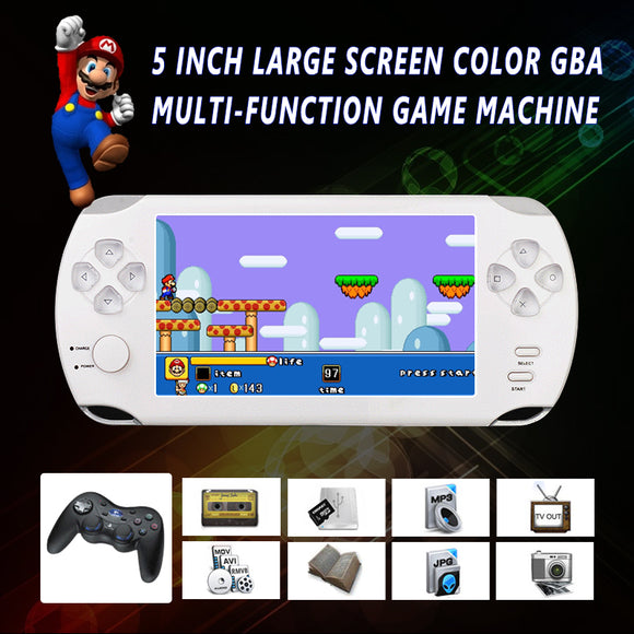 S9000A HD Handheld Game Player for PSP Portable 5.0inch MP5 MP4 Multimedia Gaming Console 8G Video Games Consoles e-books Tetris