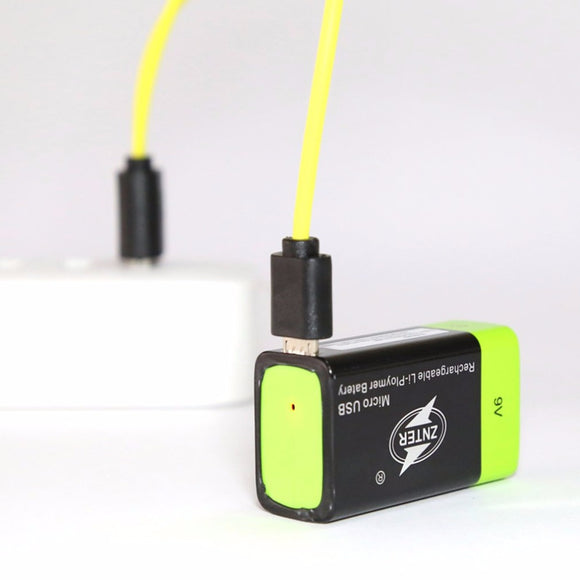 ZNTER Ultra-Efficient 9V 400mAh USB Rechargeable 9V Lithium Polymer Battery For RC Camera Drone Accessories