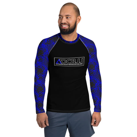 Davidson County Brazilian Jiu-Jitsu Men's Rash Guard - Blue Belt
