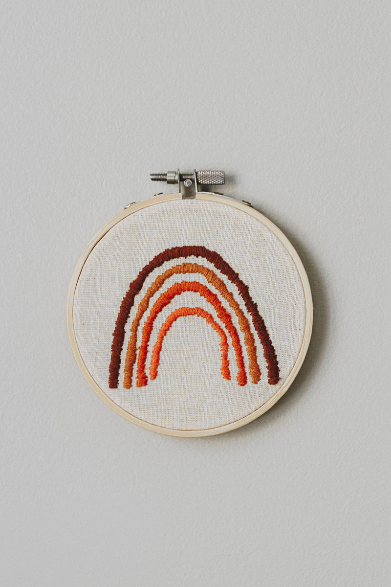 Rust Rainbow II | Embroidery Hoop - little oak + co.