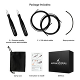 SuperSpeed(SS) Jump Rope with 2 Ropes, Auto-Locking System,More Speed and High Durability