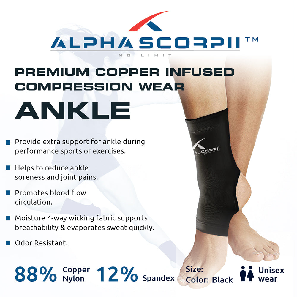Ankle Copper Compression Sleeve