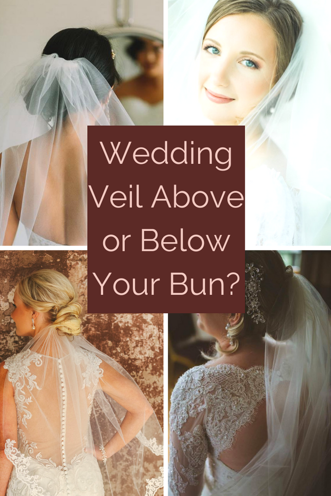 How to Wear Your Wedding Veil, Above or Below Your Bun