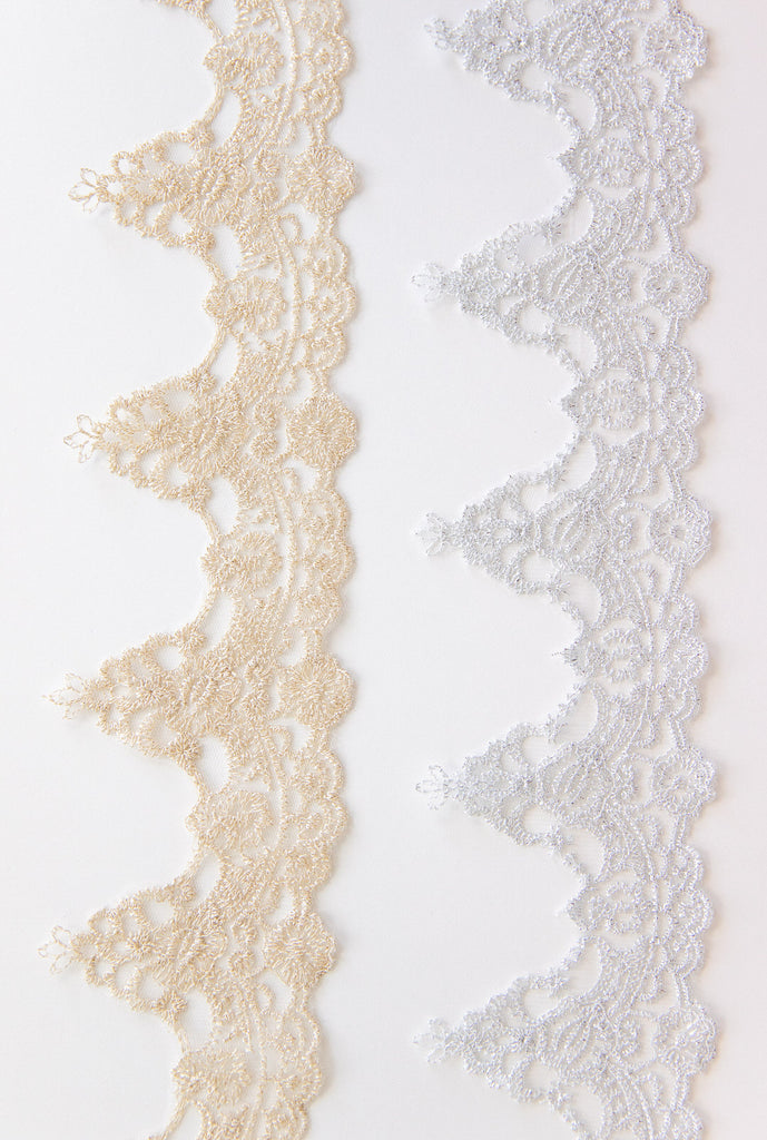 gold and silver embroidered trims for wedding veils