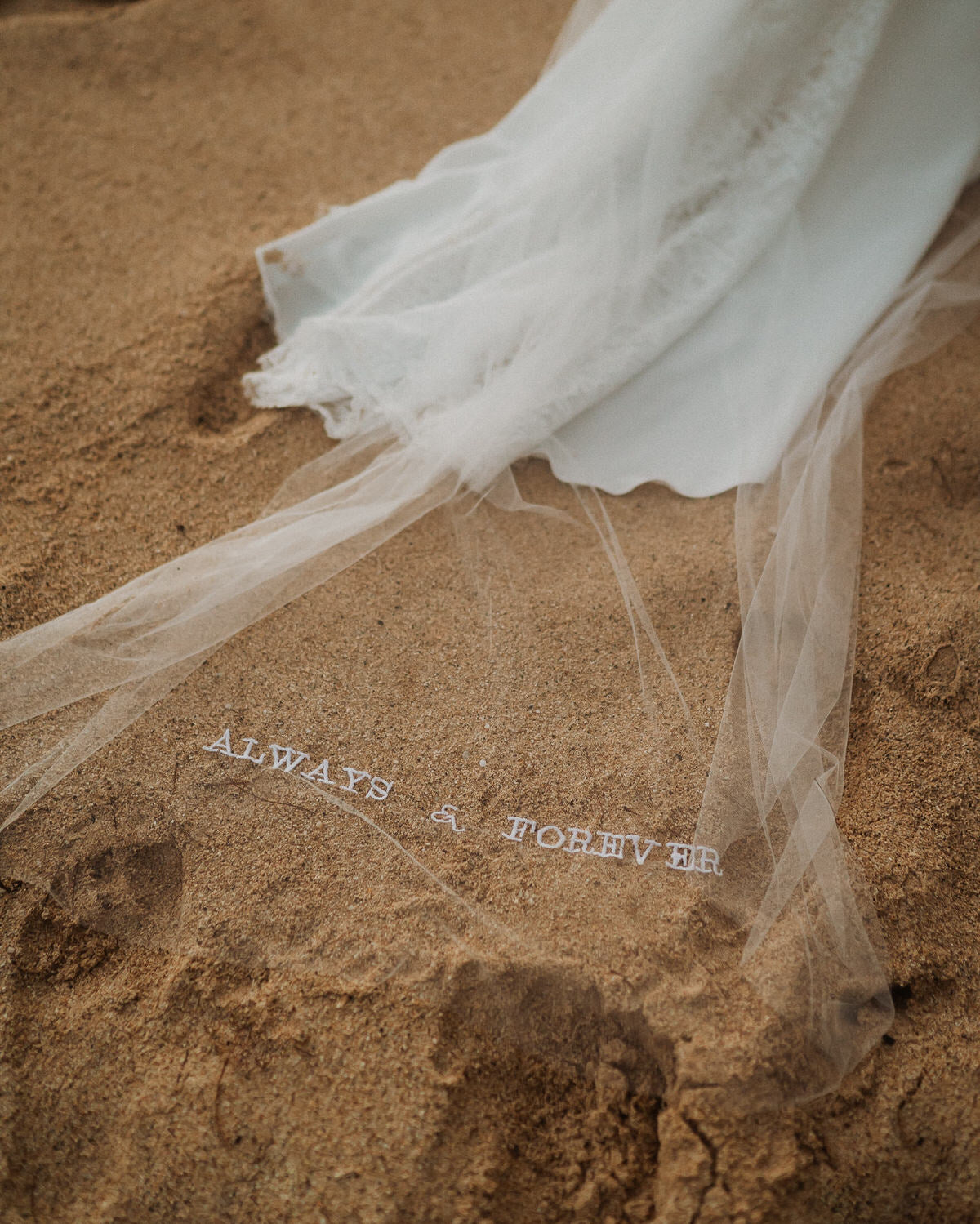 always and forever embroidered wedding veil