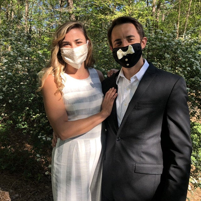 wedding face mask for bride and groom funny accessory