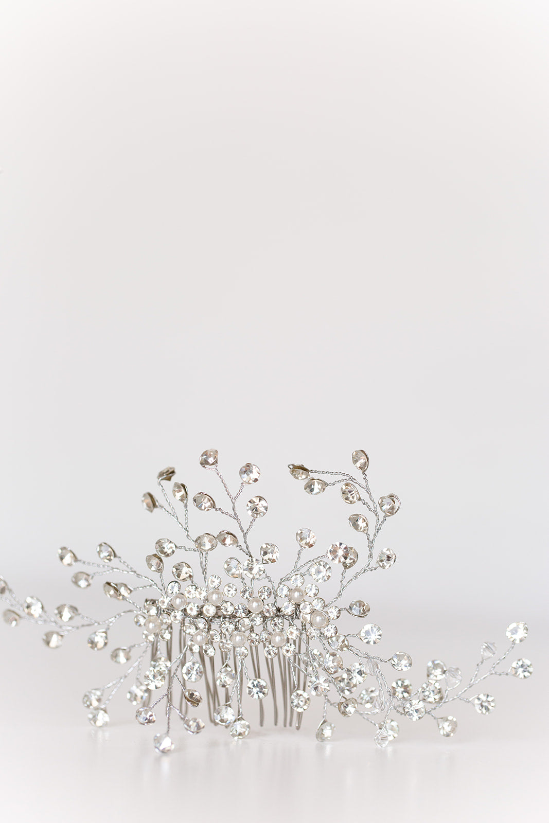 ENCHANTED - Rhinestone Wedding Hair Comb with Pearls