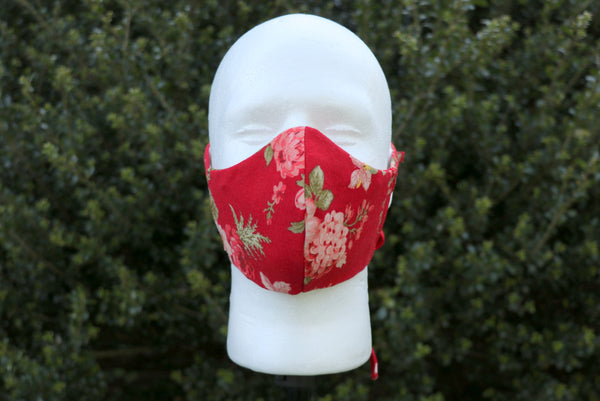Red Flower Face Mask