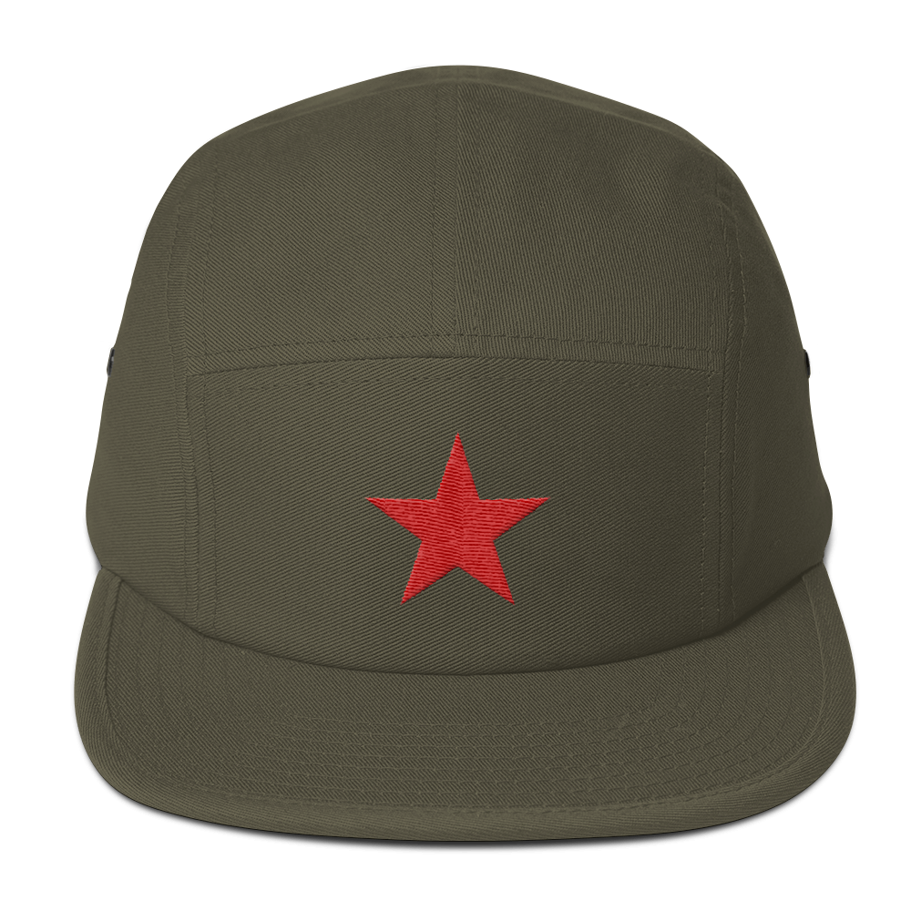 Cuban Red Star Five Panel Cap Military style hat
