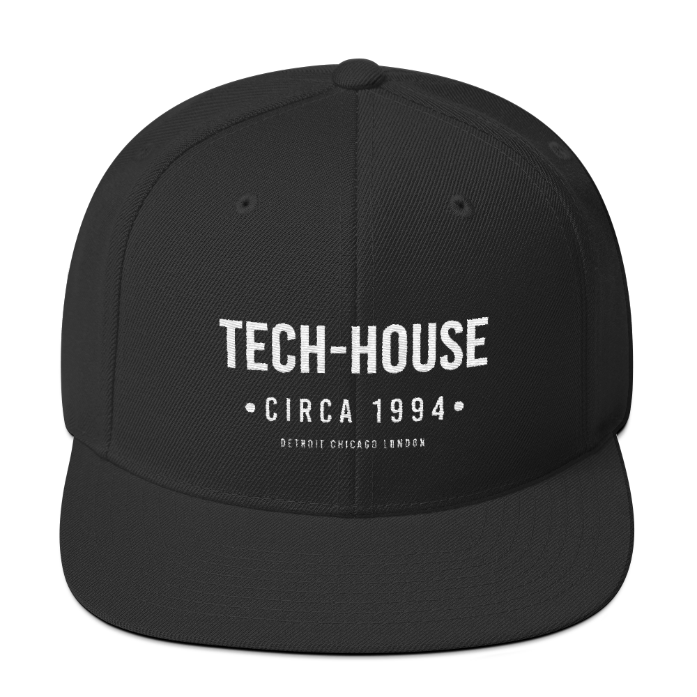 tech-house snapback hat