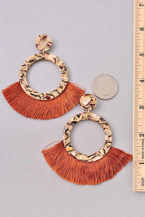 Circular Fringe Earrings