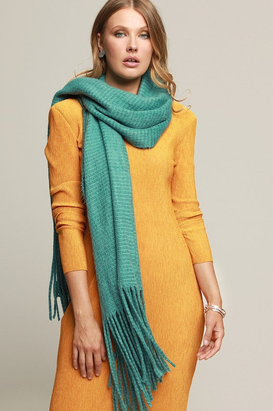 Rome Striped Knit Scarf