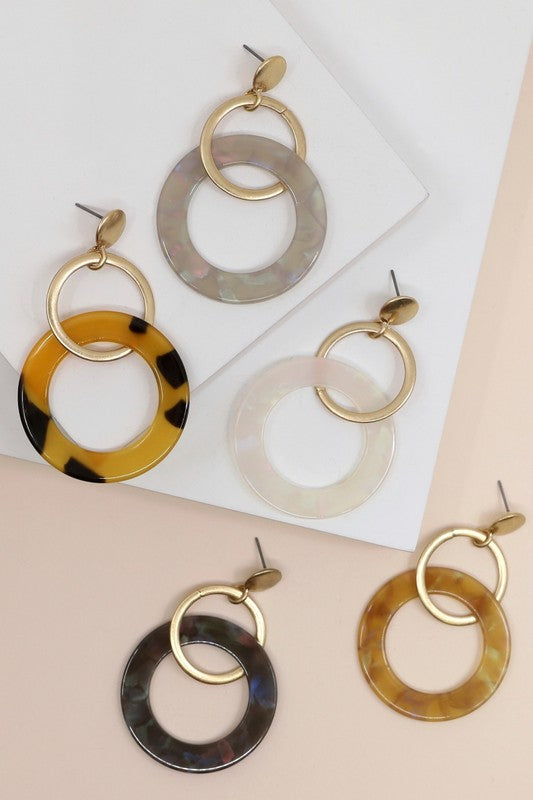 Double Hoop Dangles