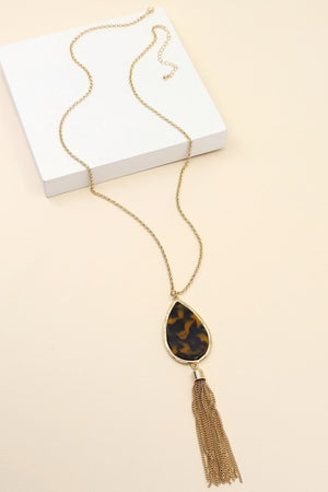 Tear Drop Acetate Necklace