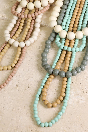 5 Layer Wood Bead Necklace