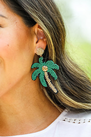 Houma Palm Tree Earrings