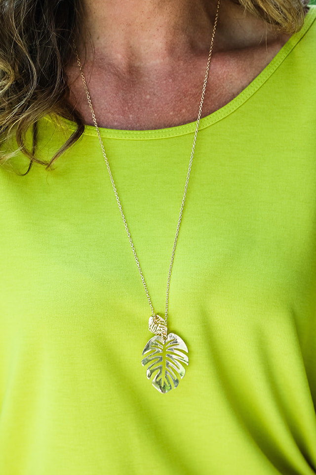 Clearwater Leaf Necklace