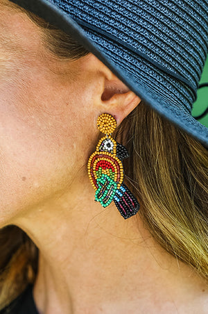 Croatia Parrot Earrings