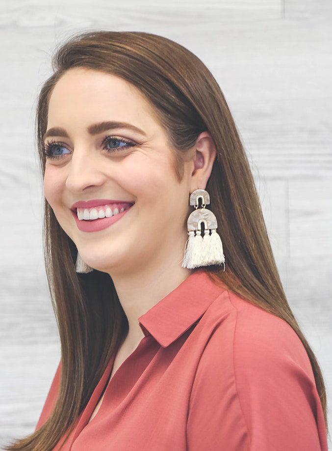 Lucite & Tassel Earrings