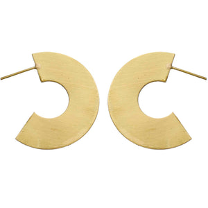 C-Shaped Gold Earrings