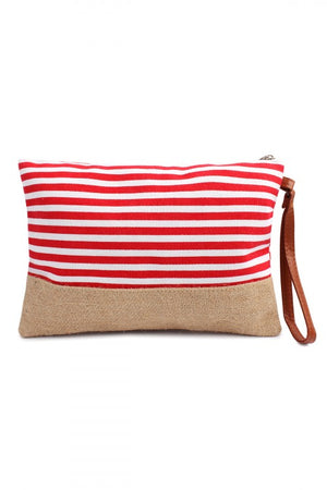 Red Striped Clutch