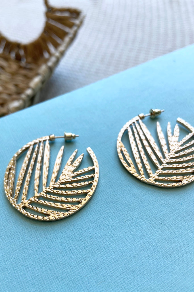 Seville Palm Leaf Earrings