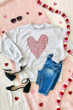 AK Tees - XOXO Heart Sweatshirt