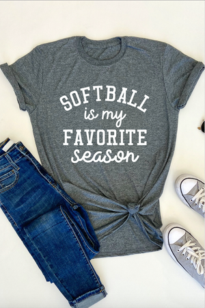 AK Tees - Softball Is My Favorite Season