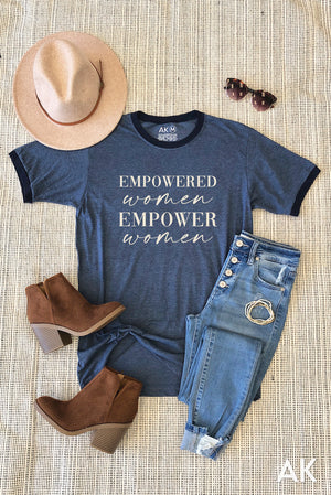 AK Tees - Empowered Women Ringer Tee