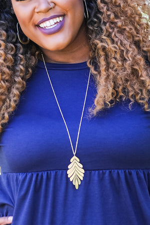 Hamden Leaf Necklace
