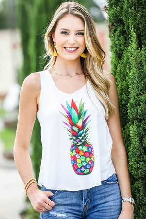 Colorful Pineapple Tank