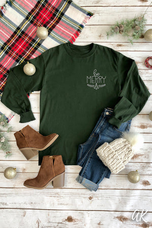 AK Tees – Be Merry Long Sleeve Tee