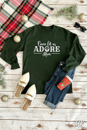 AK Tees – Come Let Us Adore Him Long Sleeve Tee