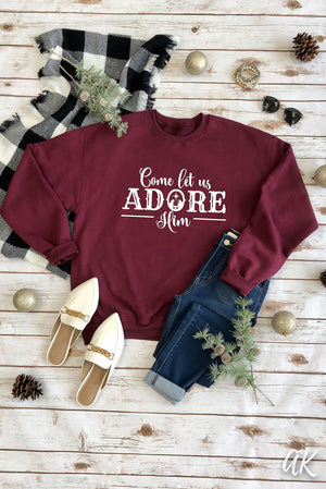 AK Tees – Come Let Us Adore Him Sweatshirt