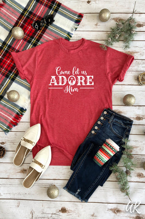 AK Tees – Come Let Us Adore Him Vintage Tee