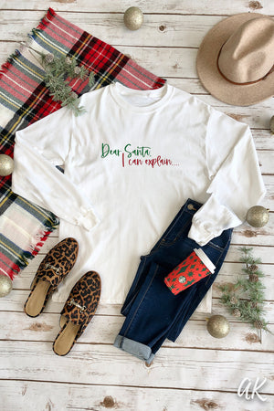 AK Tees – Dear Santa Adult & Youth Long Sleeve Tee